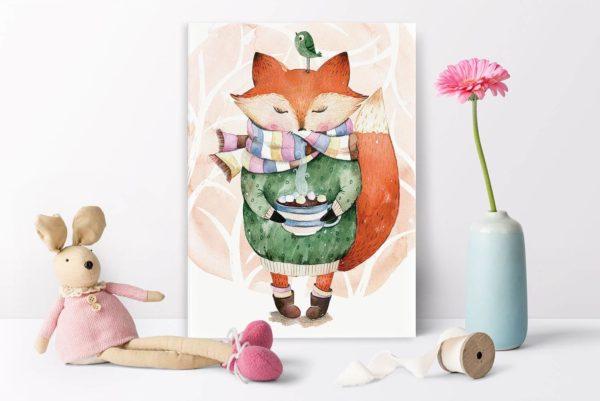 pastel_autumn_fox_30x40_2
